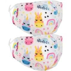 2 Máscaras Reutilizáveis Para Crianças Ajustáveis 