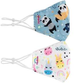 Pack Of 2 Adjustable Reusable Kids Masks