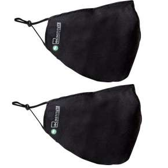 Mascarillas Ajustables Reutilizables Negra Pack 2