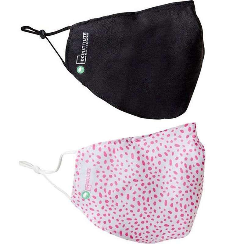 Mascarillas Ajustables Reutilizables Blanca Rosa y Negra Pack 2