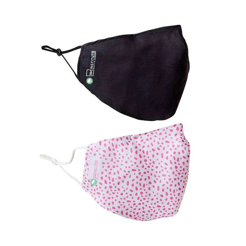 Reusable Adjustable Masks White Pink And Black Pack 2
