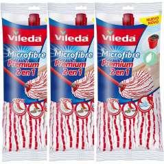Vileda Mocio Microfiber Premium 2 In 1 Pack 3 Unità