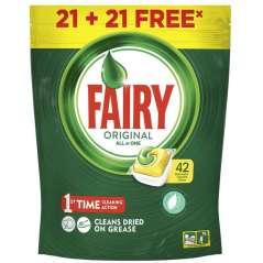 Fairy Original Todo En 1 Limon Lavavajillas 42 Cápsulas