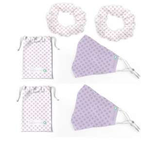 Set Reusable Adjustable Masks And Covers More Hair Ties