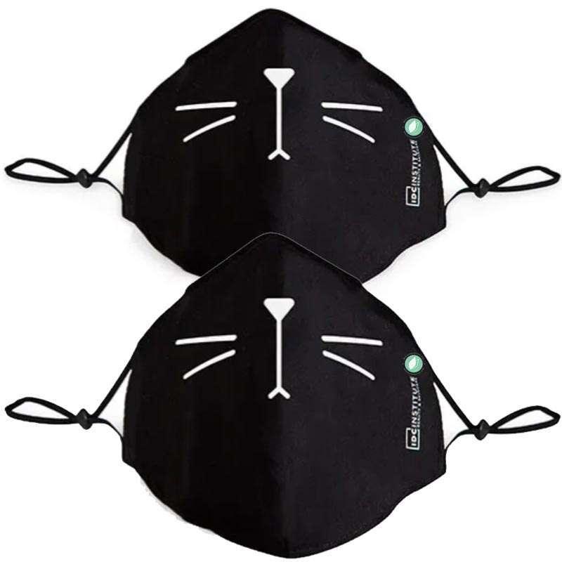 Mascarillas Dibujo Bigotes Gatos Negras