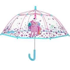 Guarda-Chuva Transparente Unicorn Meninas
