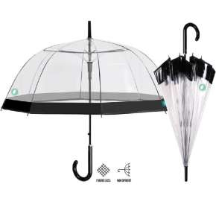Paraguas Mujer Transparente Borde Negro