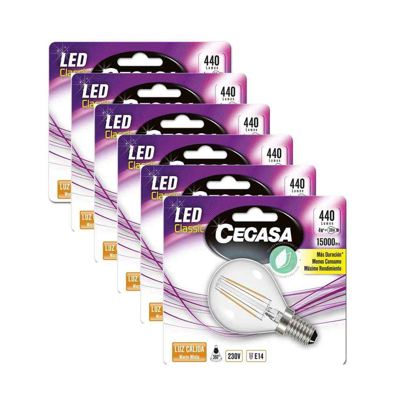 Bombillas LED E14 Pack de 6 Unidades