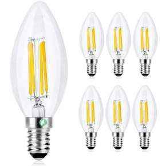 Bombillas LED Vela E14 4W 6 Unidades