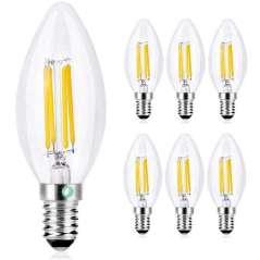 Gloeilampen LED Vela E14 4W 6 Eenheden