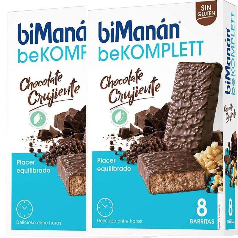 biManán Komplett Chocolate Crujiente 16 Barritas