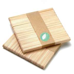 100 Wooden Spatulas 11 cm
