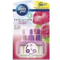 Ambientador Eléctrico 3Volution Flores Elegantes 3 Fragrâncias