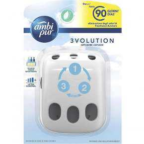 Ambipur 3Volution Diffuser And Refills Cotton Clouds