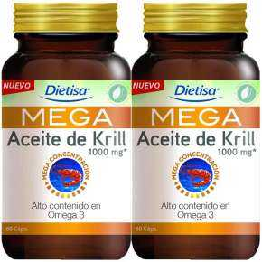 Mega Aceite De Krill 1000 mg 120 Cápsulas Omega 3 Dietisa