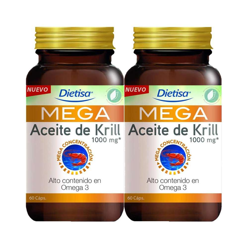 Mega Omega 3 Aceite de Krill 1000 mg 120 Perles Dietisa