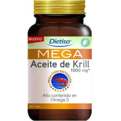 Mega Omega 3 Aceite de Krill 1000 mg 120 Pearls Dietisa