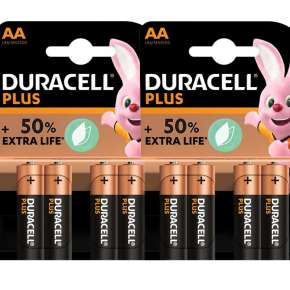 Duracell Pilhas Alcalinas Plus AA Pack 8