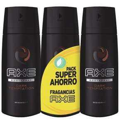 Axe Dark Temptation Pack 3 Deodorantis 150 ml
