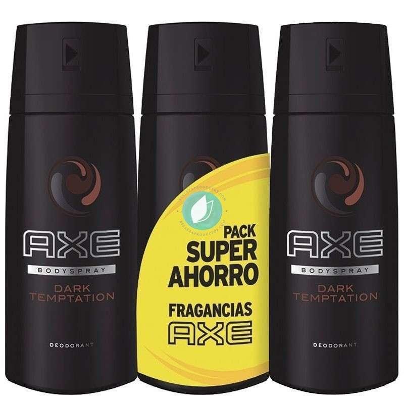 Axe Dark Temptation Pack 3 Desodorantes 150 ml