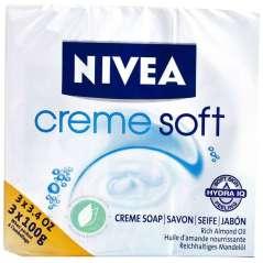Nivea Crème Soft 3 Saponette Per Mani