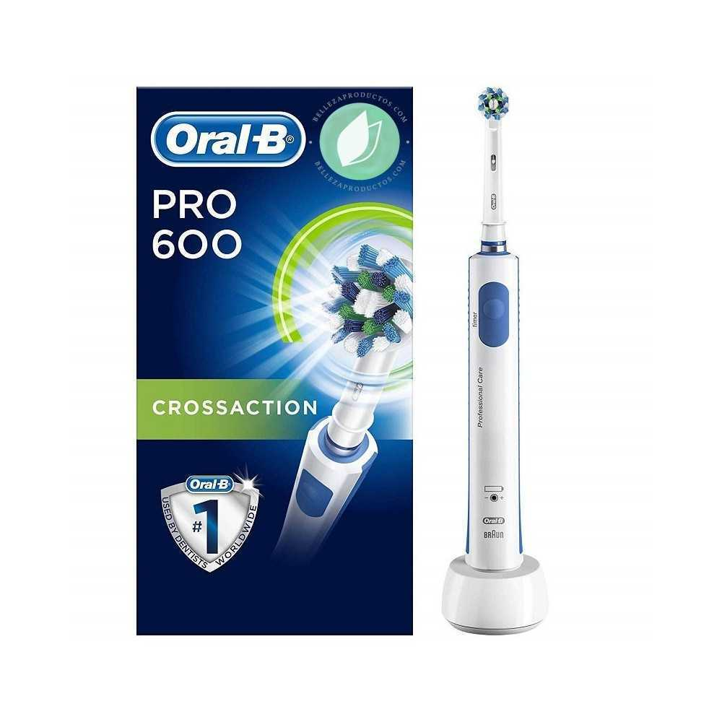 Cepillo De Dientes Eléctrico Recargable Oral-B PRO 600 CrossAction Con Tecnología Braun