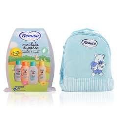 Nenuco Pack Regalo Bebé Mochila De Paseo Azul 4 x 200 ml