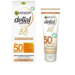 Garnier Delial BB Sun Protector Solar Crema FPS 50+ Con Color Cara Y Escote 50 ml