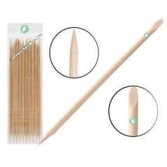 10 Orange Wood Sticks