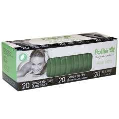20 Discos De Cera Verde Aloe Vera