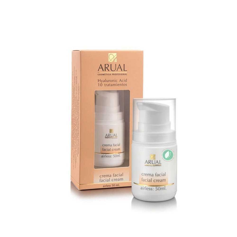 Arual Crema Facial Con Ácido Hialurónico 50 ml