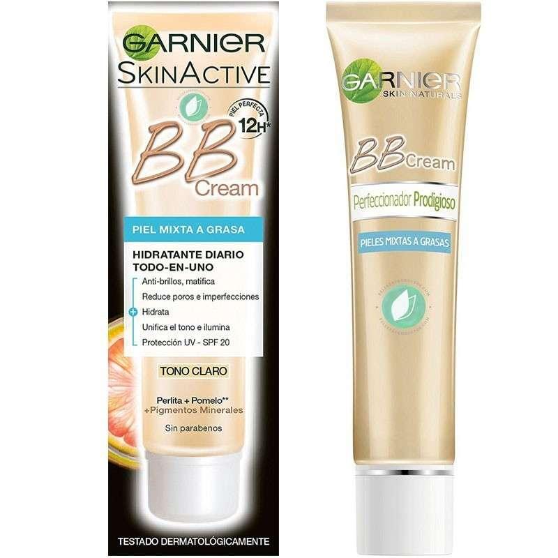 Garnier Skin Active BB Cream Piel Mixta Grasa Tono Claro 40 ml