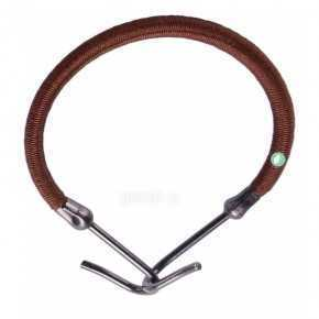 Brown Hair Rubber Hook