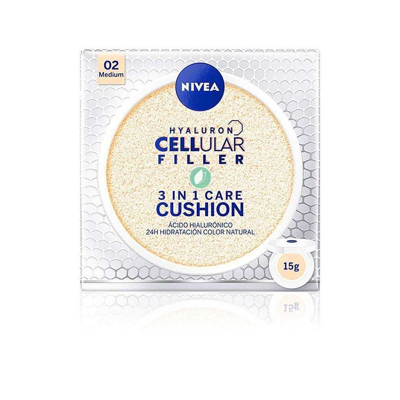 Nivea Hyaluron Cellular Filler 3 in 1 Care Cushion Tono Medio 15 gr