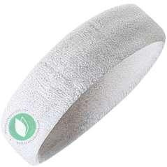 White Elastic Curl Turban