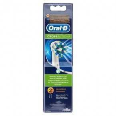 Oral B Crossaction 2 Cabezales Para Cepillo De Dientes Eléctrico