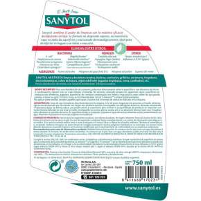 Sanytol Multi-Purpose Cleaning Disinfectant Spray 750 ml