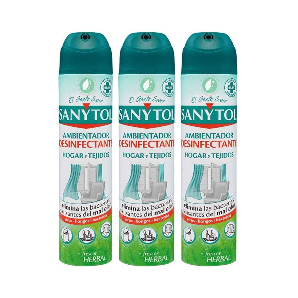 Sanytol Home And Fabric Freshener Spray Pack 3 Ud 300 ml
