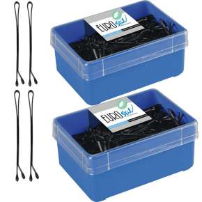 2 Boxes Of 300 Black Clips 5 cm