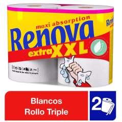 Renova 2 Rollos De Papel Cocina Maxi Absorción Extra XXL 2 Capas