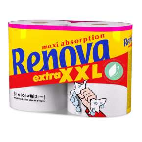 Renova 2 Rolls Of Kitchen Paper Extra XXL 2 Layers