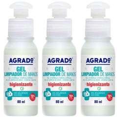 Agrado Pack 3 Gel Desinfetante Para As Mãos 80 ml
