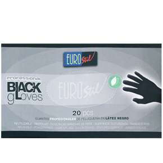 Handschuhe Latex Black Medium