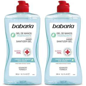 Babaria Sanitizing Hand Gel Pack 2 x 300 ml