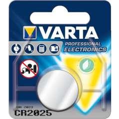 Varta Pile A Bottone Al Litio CR 2025 3 V Argento