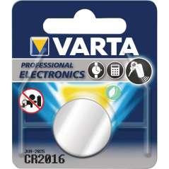 Varta Pila De Botón De Litio CR 2016 3 V Plata