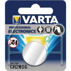 Varta Pilha De Botão Lítio CR 2016 3 V Prata