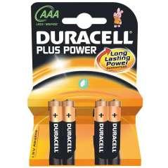 Duracell Pilas Alcalinas Plus Power AAA Pack De 4