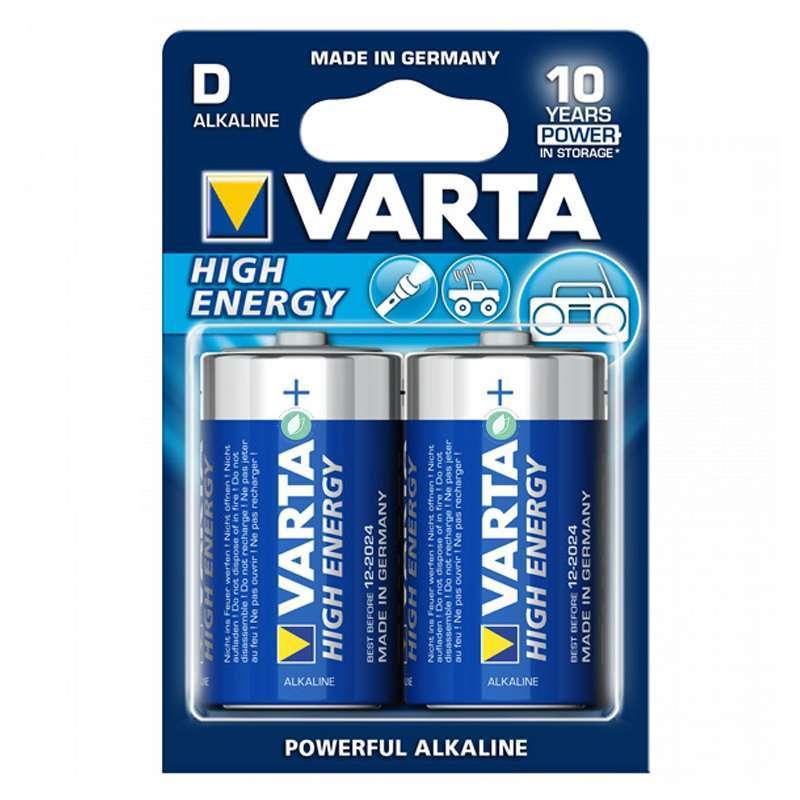 Varta Batterie Alcaline High Energy Pack 2