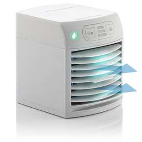 InnovaGoods Mini Portable Evaporative Air Conditioner LED FreezyQ+